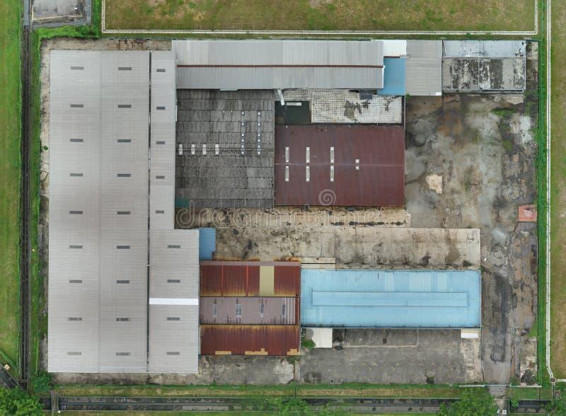 2.o mapa de la fábrica abandonada en Kuala Lumpur, Malasia foto de archivo