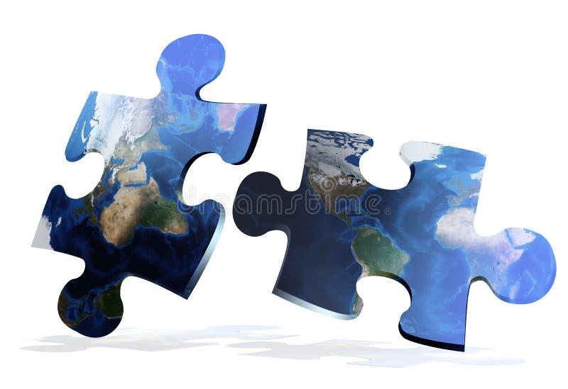 O mapa global confunde o comunication ilustração stock