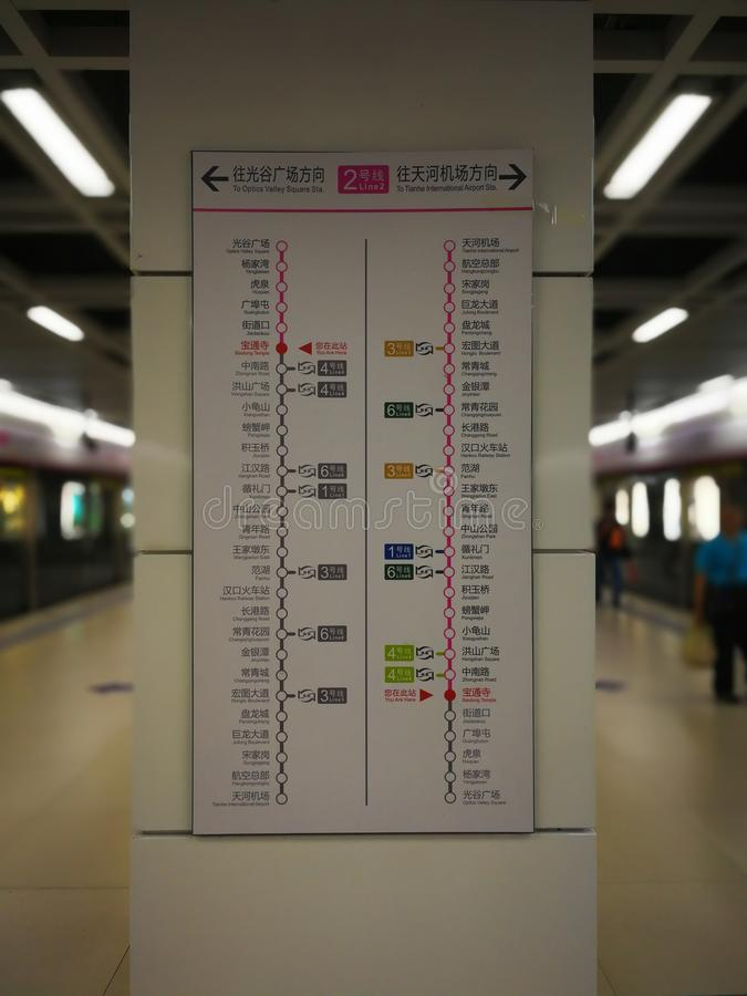 O mapa rodoviário do metro imagem de stock