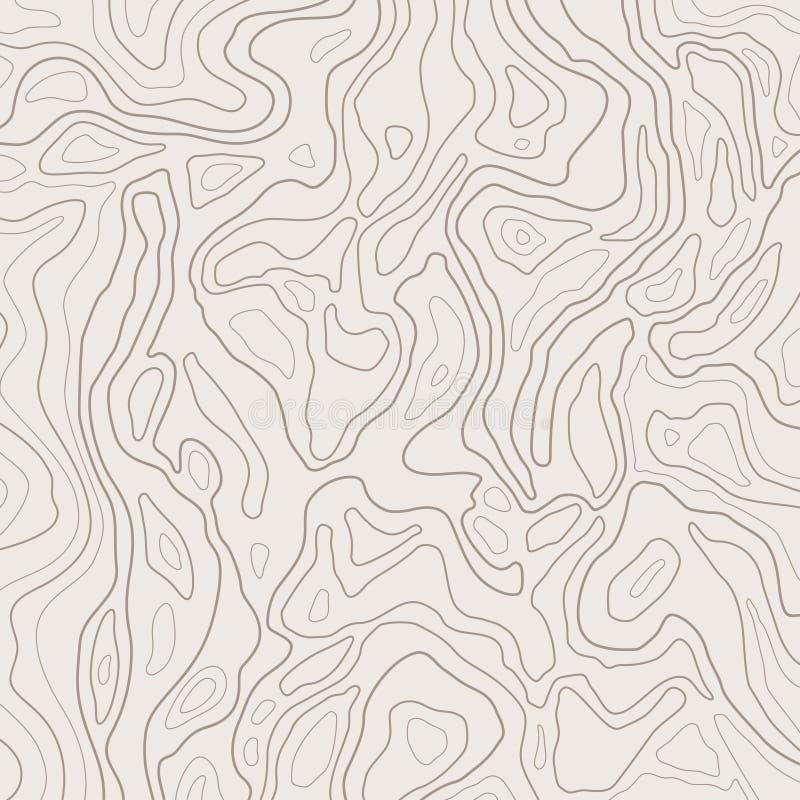 O mapa topográfico alinha, relevo da terra, fundo do contorno A grade geográfica, mapa da elevação, vector o sumário ilustração royalty free