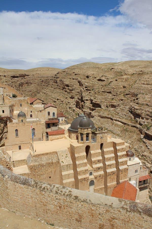 O março Saba Monastery, Laura de nosso pai santamente Sabbas fotografia de stock