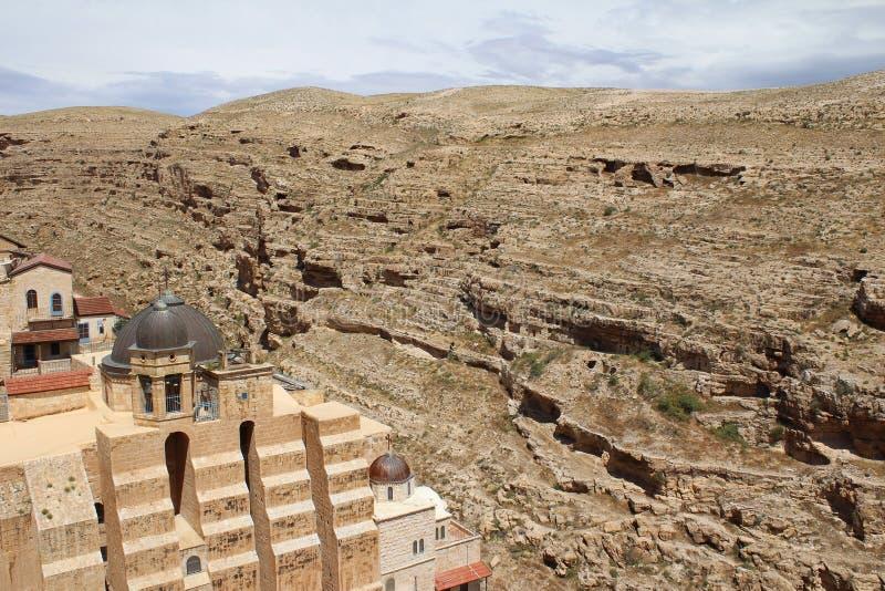 O março Saba Monastery, Laura de nosso pai santamente Sabbas imagens de stock royalty free