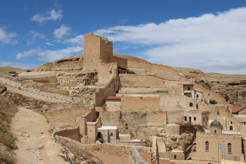 O março Saba Monastery, Laura de nosso pai santamente Sabbas imagem de stock royalty free