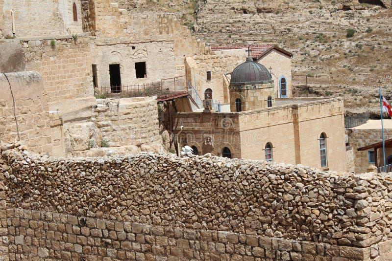 O março Saba Monastery, Laura de nosso pai santamente Sabbas fotografia de stock royalty free