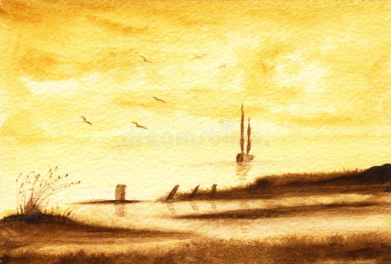 O mar ilustração do vetor