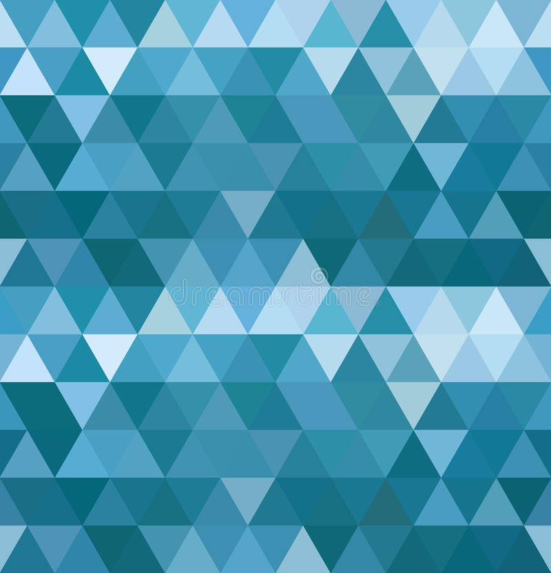O mar acena o teste padrão do triângulo ilustração do vetor