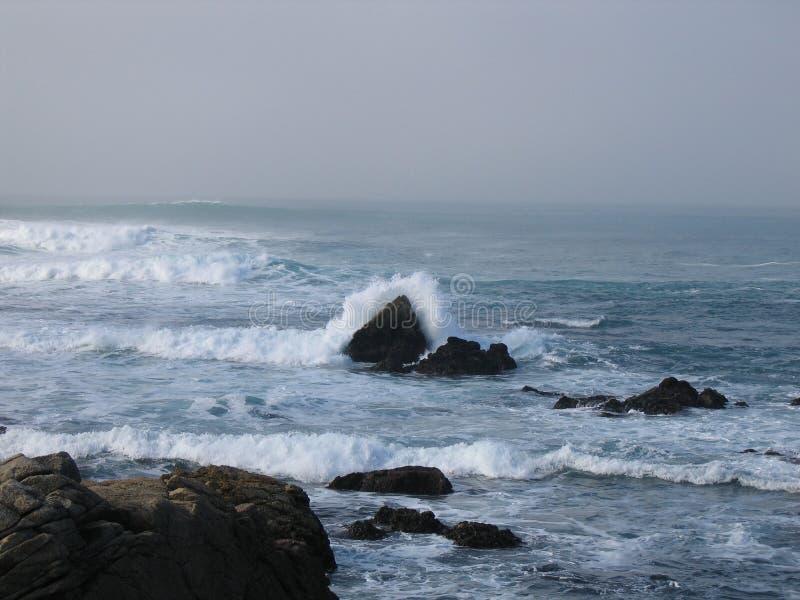 O mar agitado imagens de stock royalty free