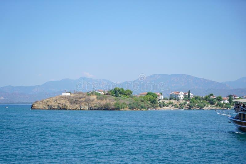 O mar azul yachts, late de Fethiye, Mugla, Turke fotos de stock royalty free