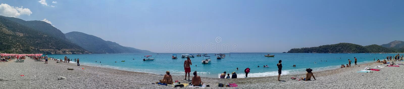 O mar azul yachts, late de Fethiye, Mugla, Turquia foto de stock