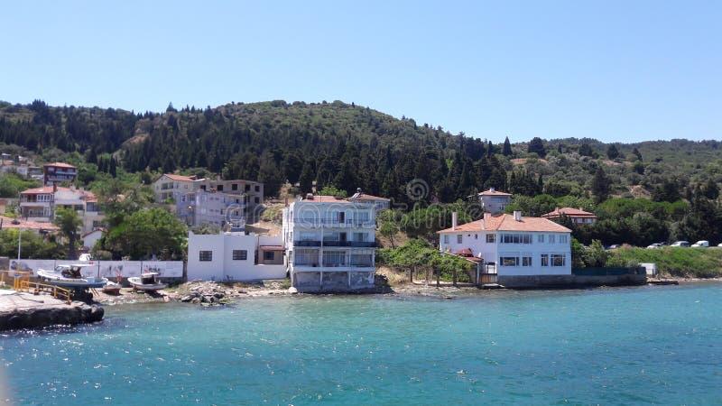 O mar bonito e a vista fotografia de stock royalty free