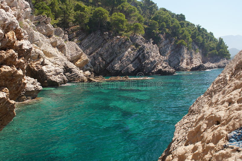 O mar de adriático ecologicamente o mais limpo fotografia de stock royalty free