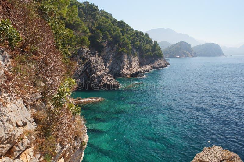 O mar de adriático ecologicamente o mais limpo foto de stock