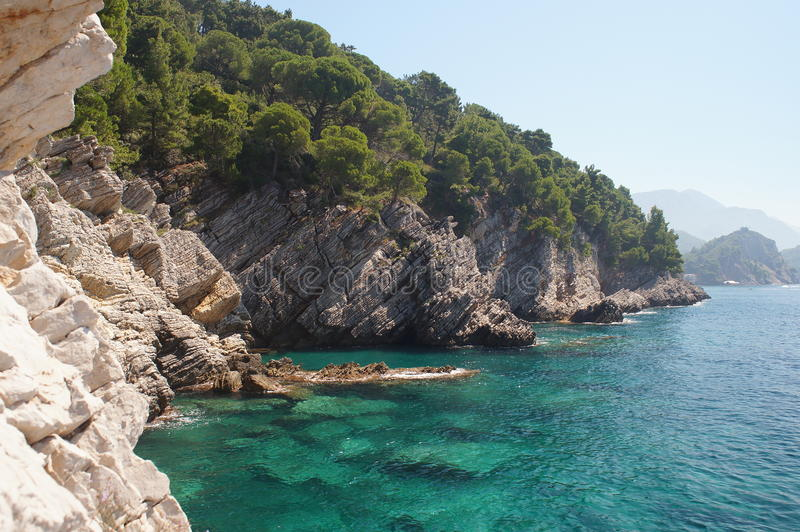 O mar de adriático ecologicamente o mais limpo foto de stock royalty free