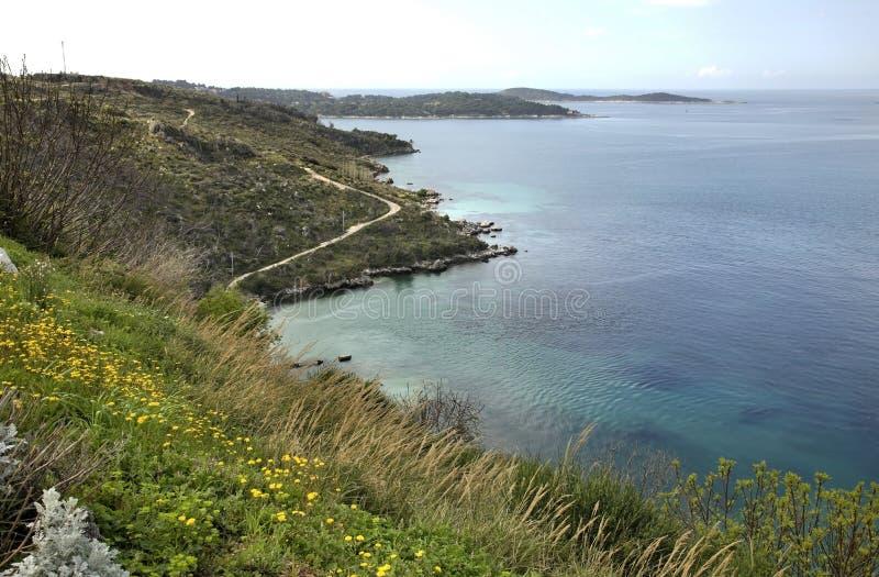 O mar de adriático próximo Plat dalmatia Croácia imagem de stock