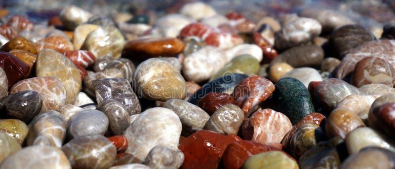 O mar de pedra o mais limpo foto de stock