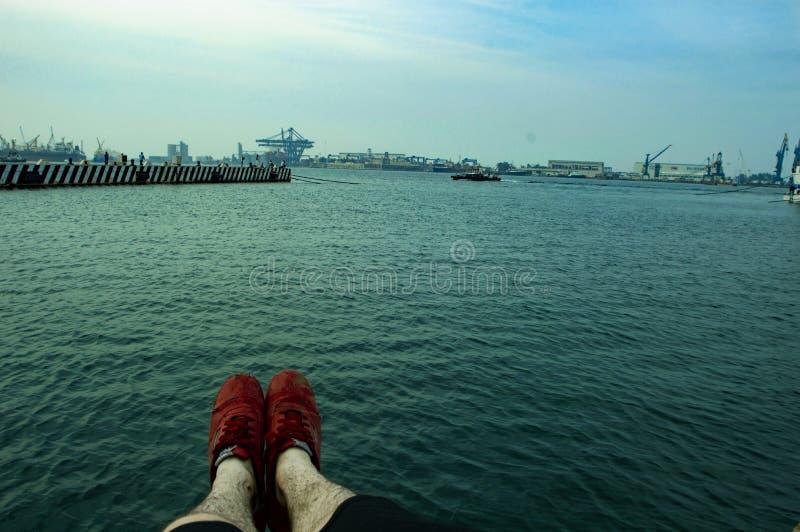 O mar de veracruz foto de stock