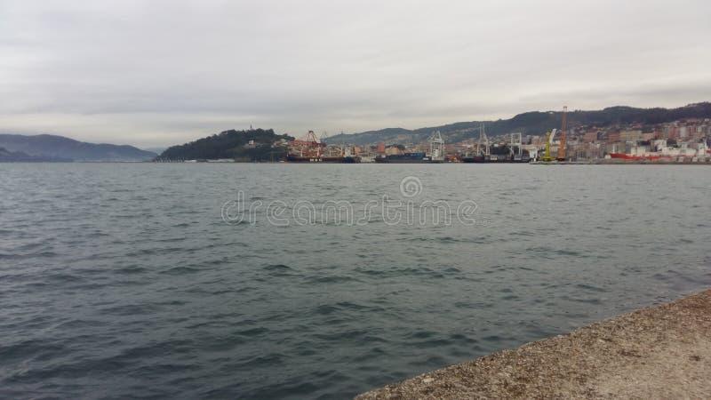 O mar em Vigo, Espanha imagem de stock royalty free