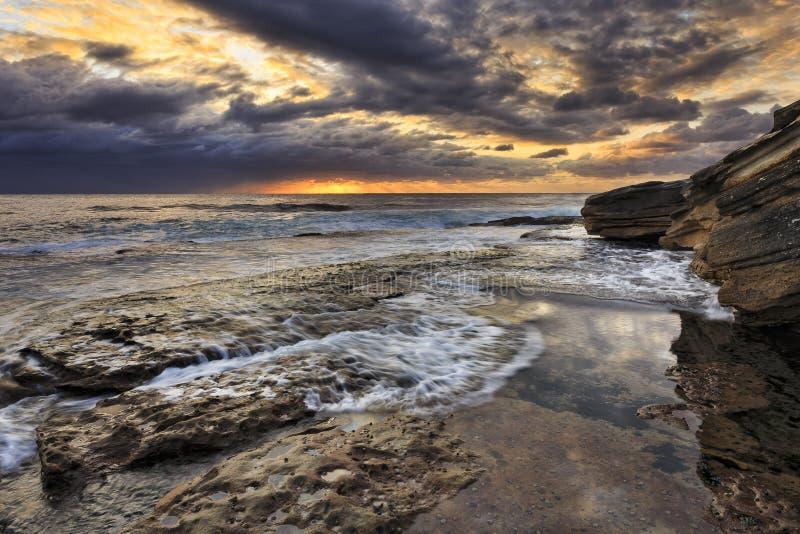O mar Marobra ainda associa-se fotografia de stock