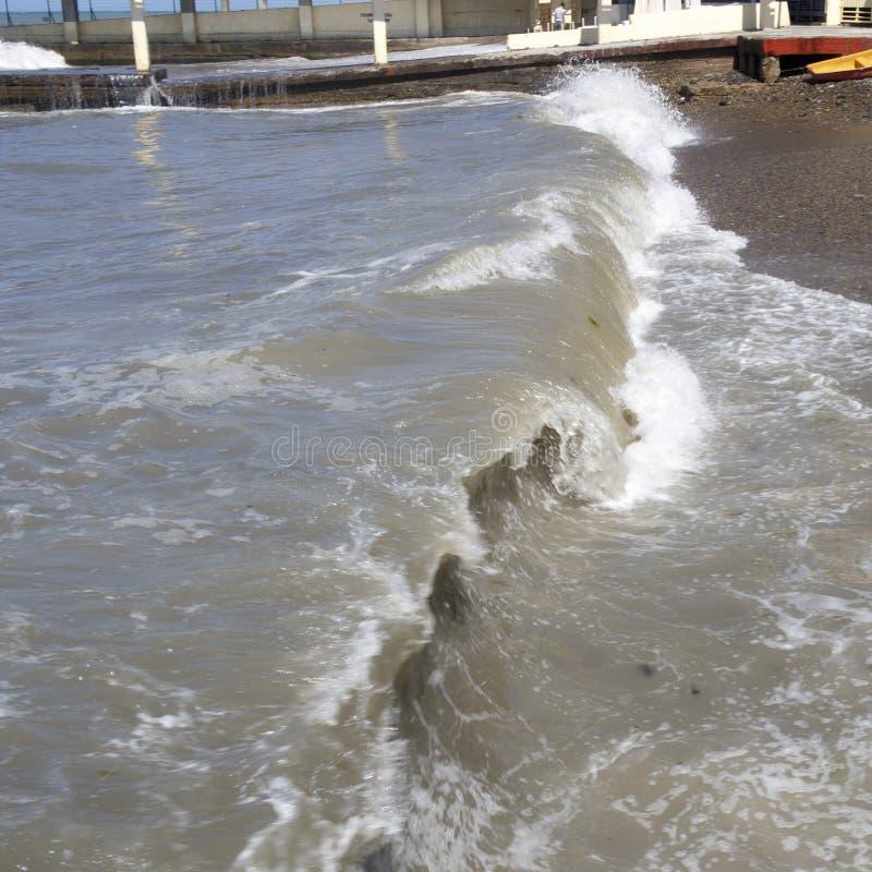 O Mar Negro Ondas do mar Sochi fotos de stock royalty free