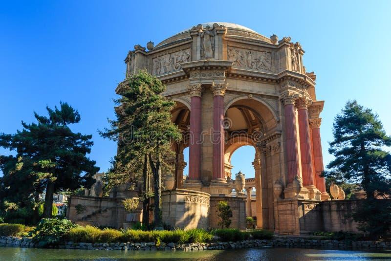 O marco famoso de San Francisco - palácio das belas artes foto de stock