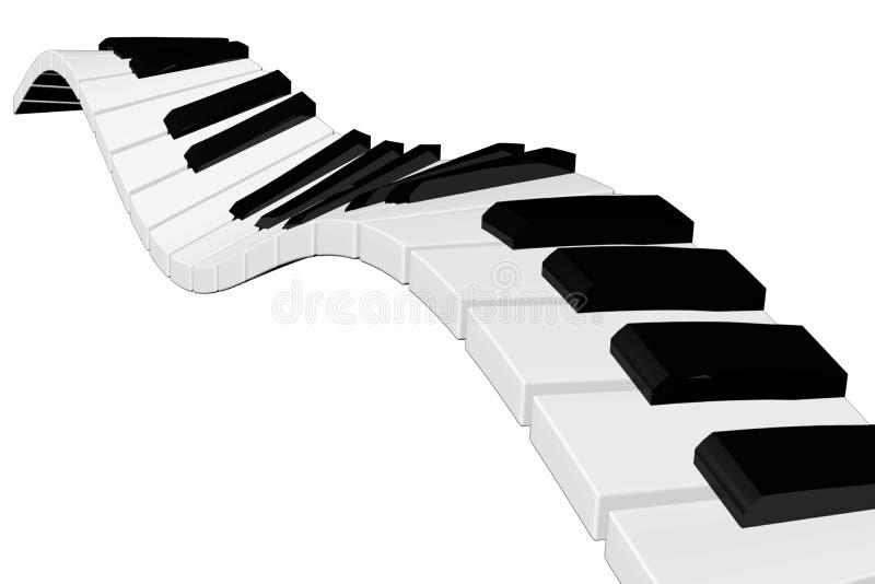 O marfim branco e as chaves pretas de um piano imagem de stock