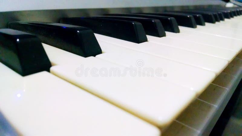 O marfim branco e as chaves pretas de um piano imagens de stock royalty free