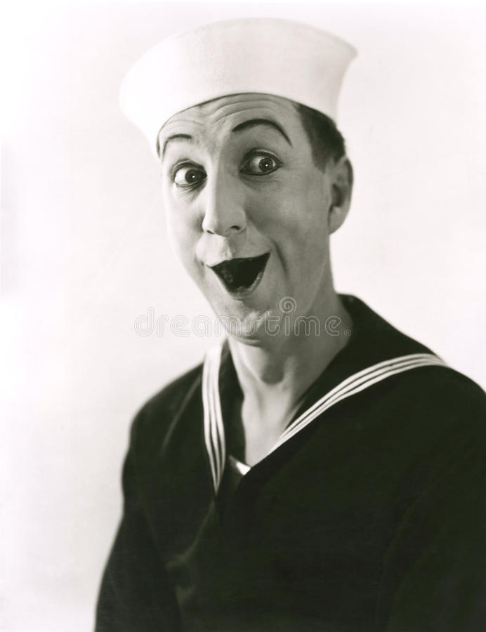 O marinheiro feliz foto de stock