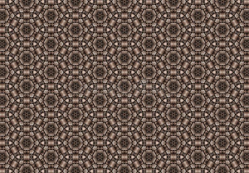 O marrom abstrato obstrui o papel de parede do teste padrão foto de stock