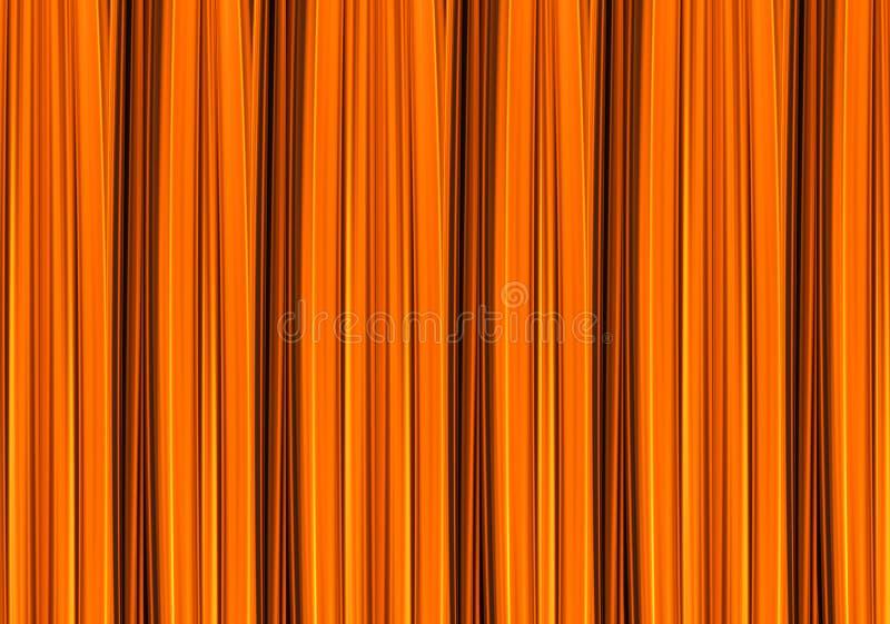O marrom alaranjado da textura do fundo abstrato alinha o fogo energético, base do grunge ilustração royalty free