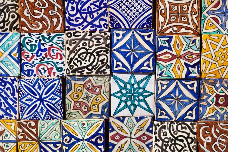O marroquino telha o teste padrão fotografia de stock