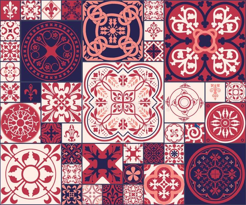 O marroquino telha o teste padrão ilustração royalty free