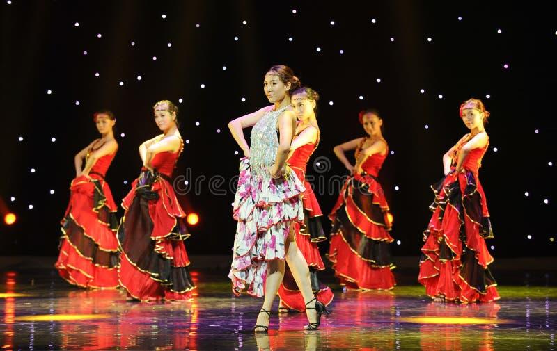 O matador Dance ---A dança nacional espanhola fotografia de stock royalty free