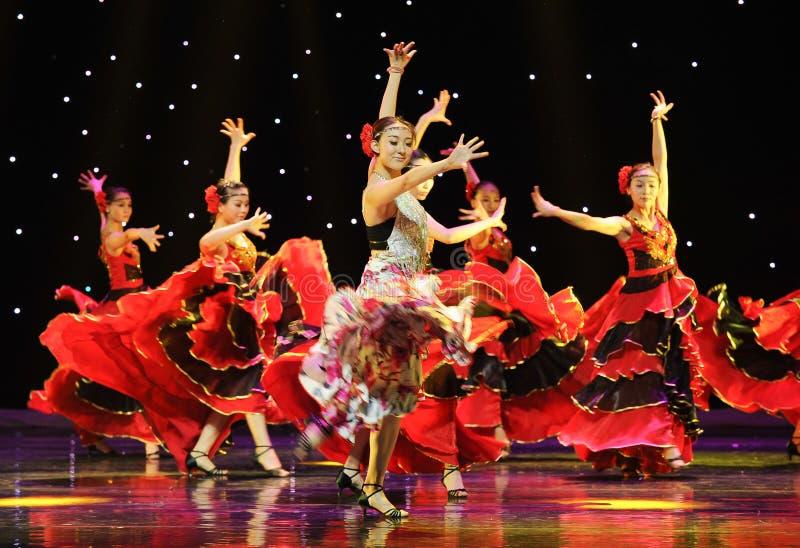 O matador Dance ---A dança nacional espanhola imagem de stock