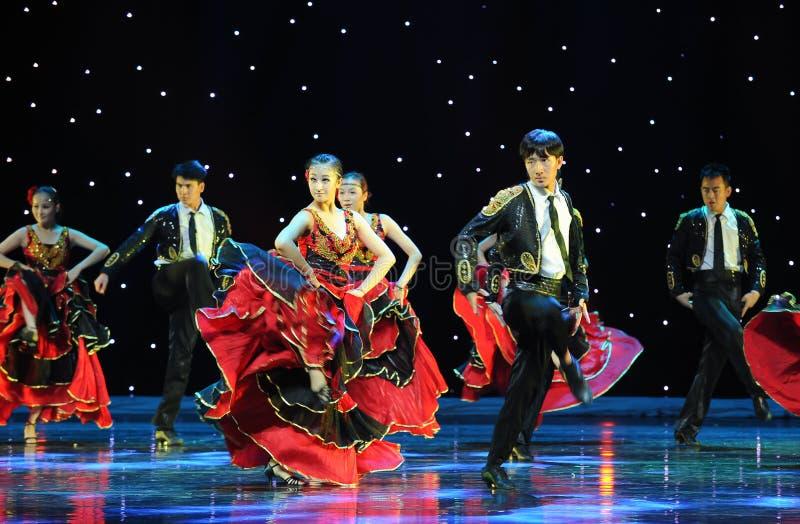O matador Dance ---A dança nacional espanhola imagem de stock royalty free