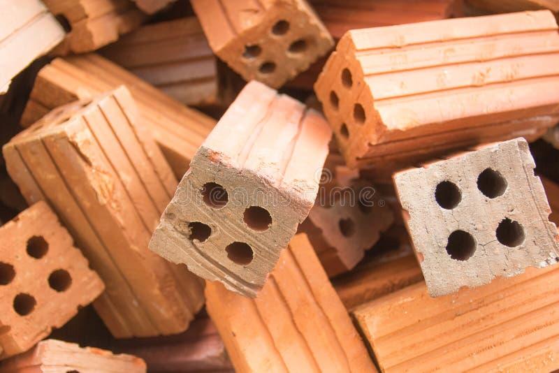 O material de construção do tijolo usado para a construção civil fotos de stock