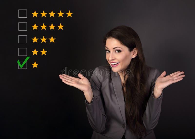O mau, a avaliação a mais má da falha, avaliação, revisão em linha Um st imagem de stock royalty free