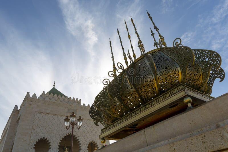 O mausoléu de Mohammed V fotografia de stock royalty free