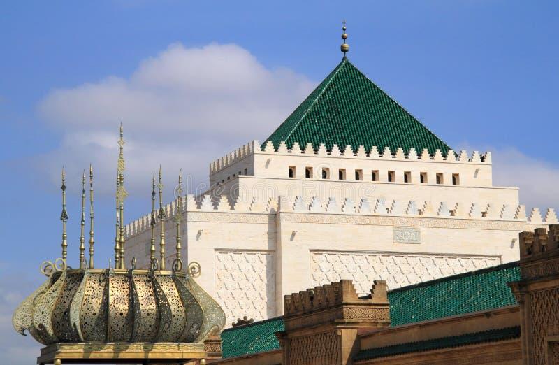 Mausoléu de Mohammed V, Rabat, Marrocos. imagens de stock