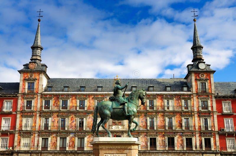 Mayor da plaza, Madrid fotos de stock