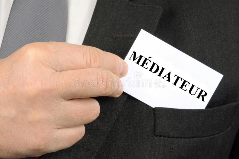 O mediador ilustração do vetor
