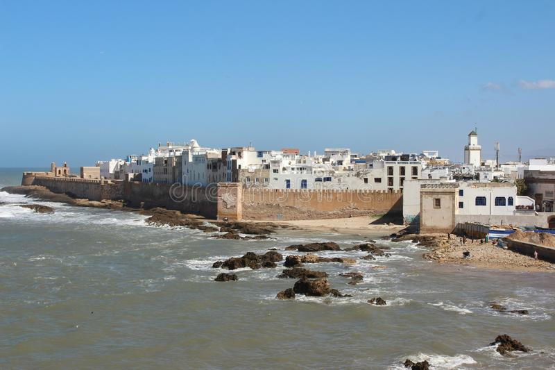 O Medina de Essaouira, Marrocos de longe imagens de stock royalty free