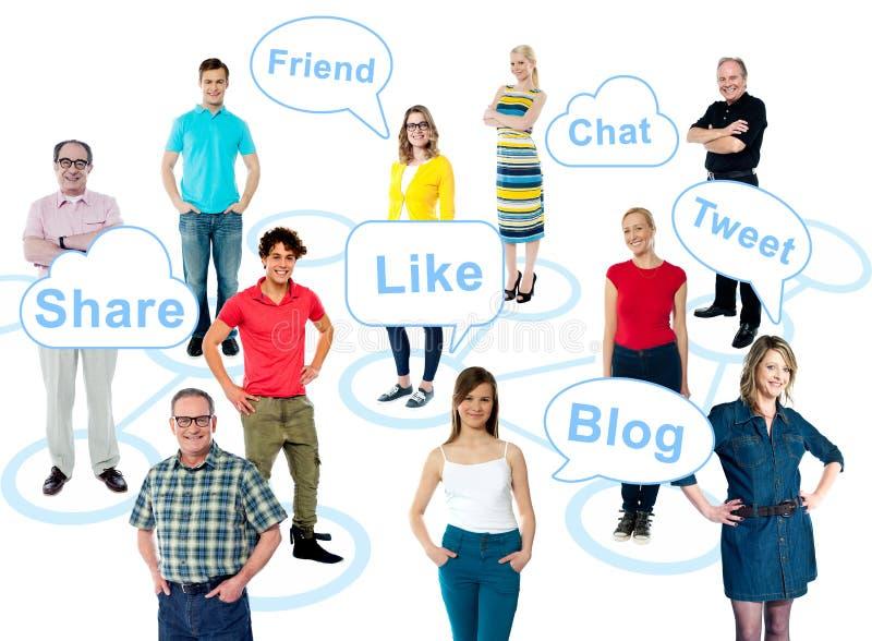 O meio social está tomando sobre o mundo imagem de stock