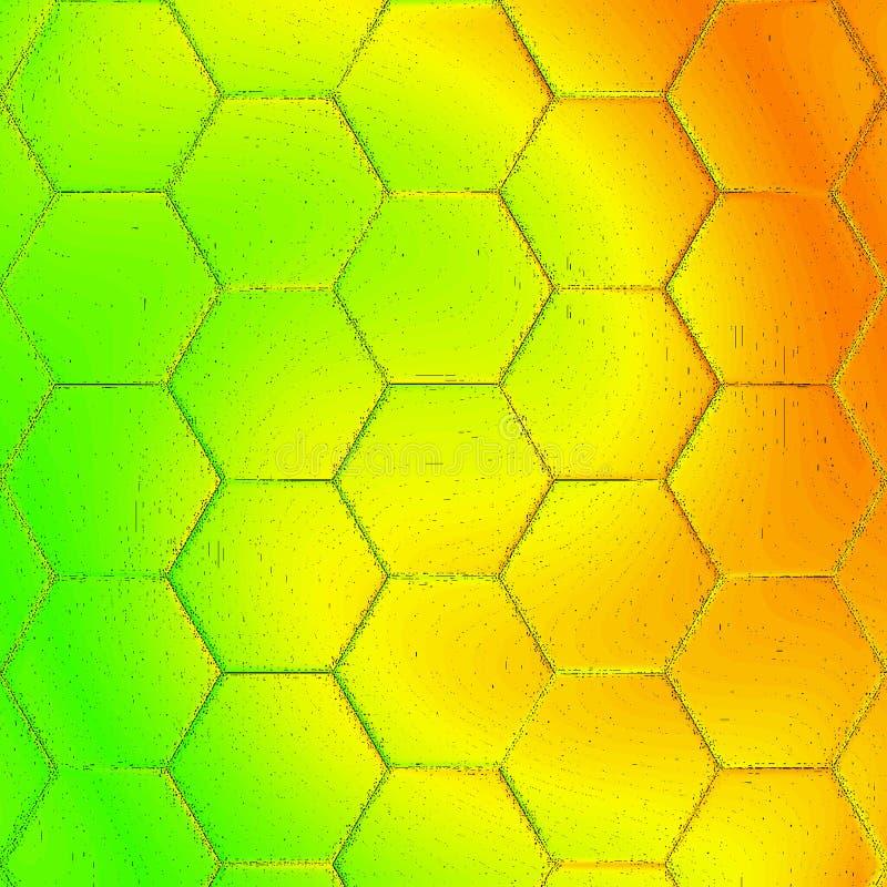 O mel do favo de mel tem o fundo no inclinação, no feriado do mel ou no cartão verde, amarelo e alaranjado fotografia de stock royalty free