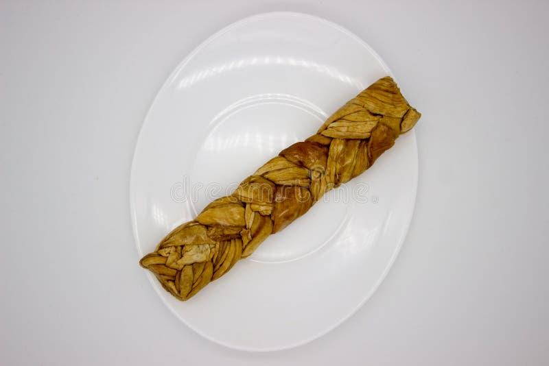 O mel?o secado Uzbeque tran?ou em uma tran?a foto de stock royalty free