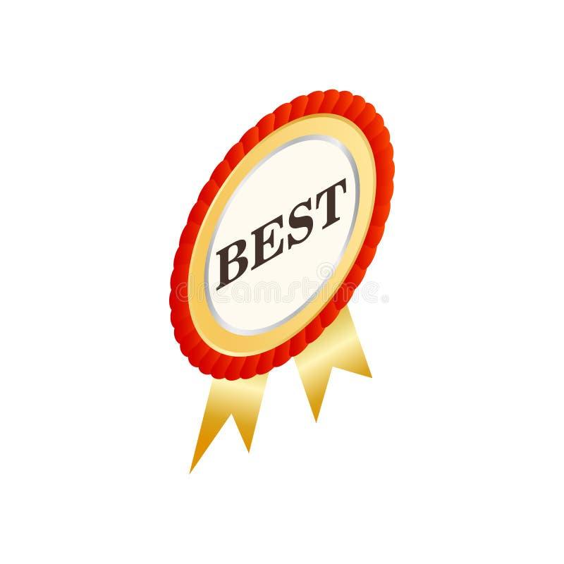 O melhor ícone da etiqueta redonda, estilo 3d isométrico ilustração royalty free