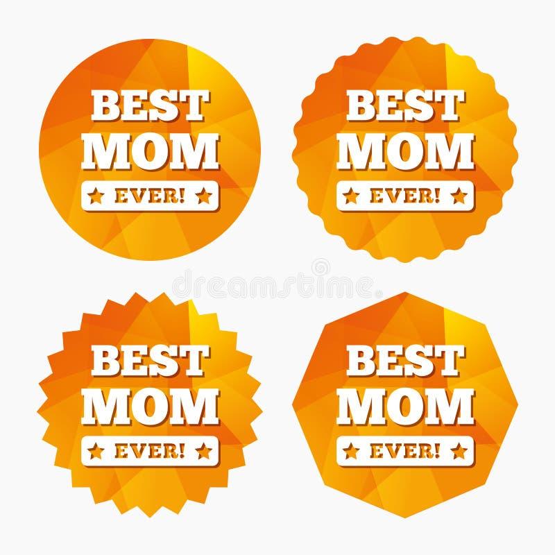 O melhor ícone do sinal da mamã nunca símbolo da concessão ilustração stock