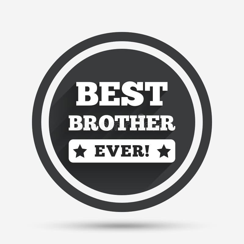 O melhor ícone do sinal do irmão nunca símbolo da concessão ilustração stock