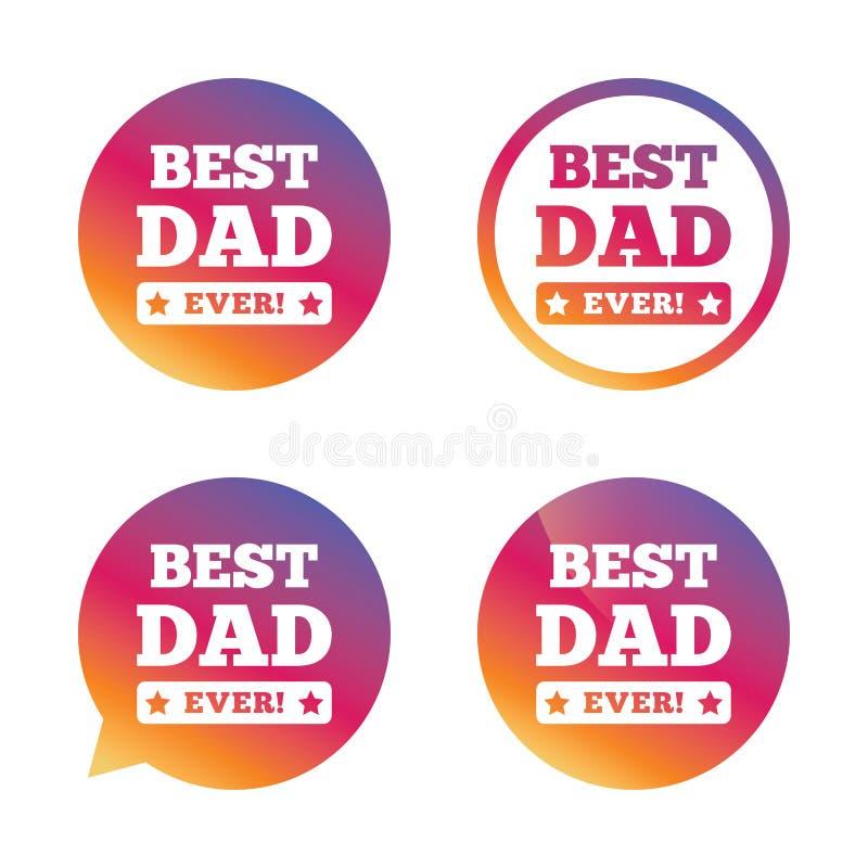 O melhor ícone do sinal do pai nunca símbolo da concessão ilustração do vetor