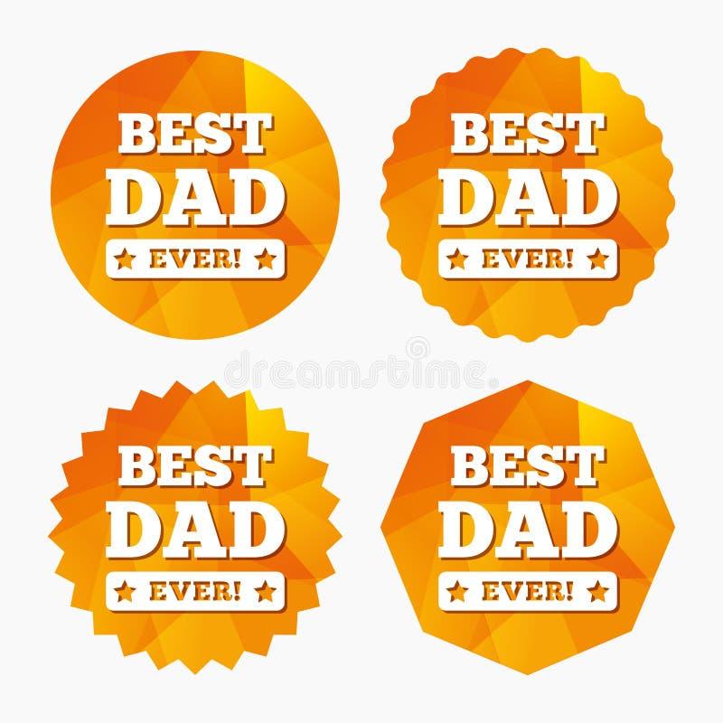 O melhor ícone do sinal do pai nunca símbolo da concessão ilustração stock