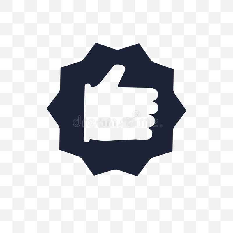 O melhor ícone transparente O melhor projeto do símbolo do collectio do sucesso ilustração stock